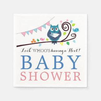 Whimsical Owl Baby Shower Paper Napkin