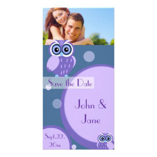 "Whimsical Owl  /photo  ""Save the Date"" Photo Greeting Card"
