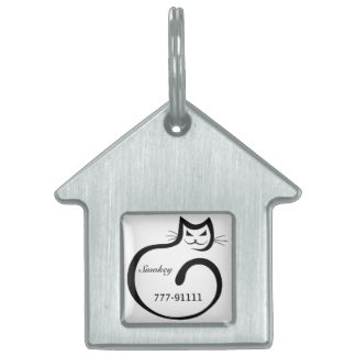 Whimsical Personalized Cat Tag Pet Tags