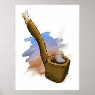 Whimsical Pipe Illustration Poster