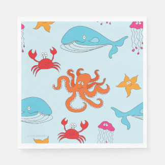 Whimsical Under the Sea Luncheon Napkins Paper Napkins