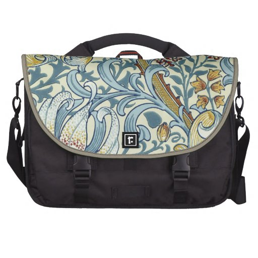 Whimsical Vintage Fabric Floral Design Commuter Bag