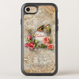 Whimsical Vintage Floral Collage OtterBox Symmetry iPhone 8/7 Case