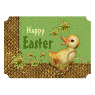 Whimsy chicken collage CC0848 Easter greetings Card