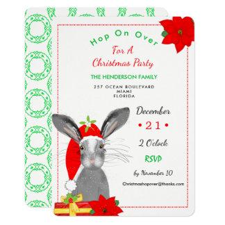 Whimsy Christmas Bunny Rabbit Invite