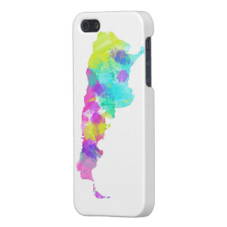 Whimsy Watercolor Argentina Map iPhone 5 Case