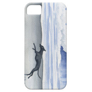 Whippet At The Beach Barely There iPhone 5 Case