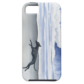Whippet At The Beach Tough iPhone 5 Case