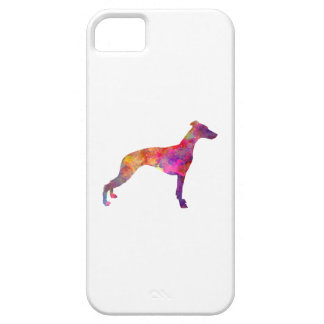 Whippet in watercolor barely there iPhone 5 case