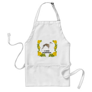 Whippet with Yellow Roses Standard Apron