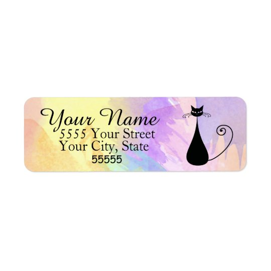 Whiskers and Whimsy Return Address Labels