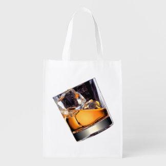 Whisky on the Rocks Reusable Grocery Bag