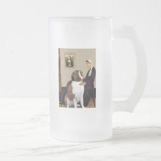 Whisterls Mother - Saint Bernard Frosted Glass Beer Mug