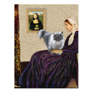 Whistlers Mother - Blue Smoke Persian Postcard