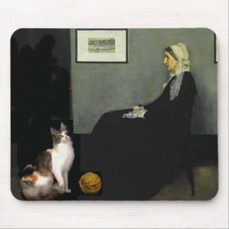 Whistler's Mother's Cat Mouse Pad
