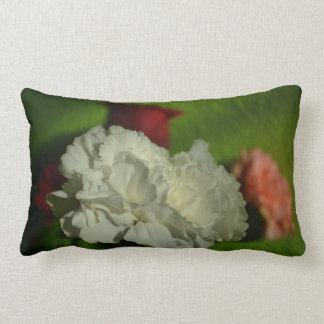 whit flower photo throw pillows