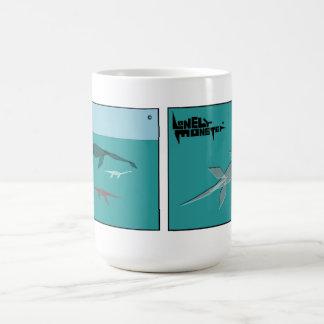White 444 ml Mug - Cubist Monster