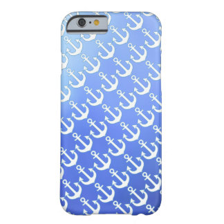white anchors on soft blue barely there iPhone 6 case
