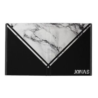 White And Black Marble With Stripes iPad Cover