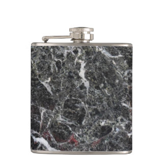 White And Dark Grey Marble Stone Hip Flask
