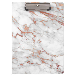 White and Gold Marble Clipboard