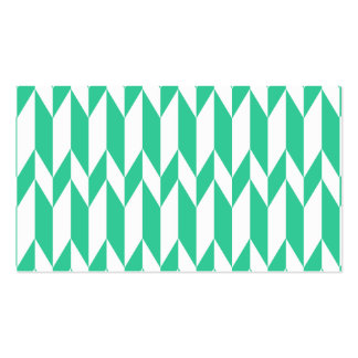 White and Green Abstract Graphic Pattern. Pack Of Standard Business Cards