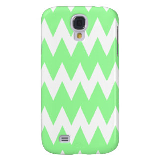 White and Green Zigzags. Galaxy S4 Case