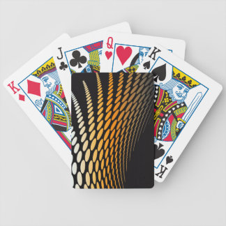 White and Orange Dots Deck Of Cards