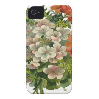 White and Orange Flowers iPhone 4 Case