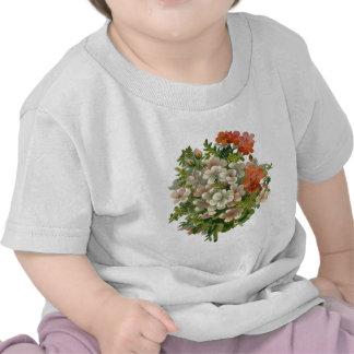 White and Orange Flowers Shirt