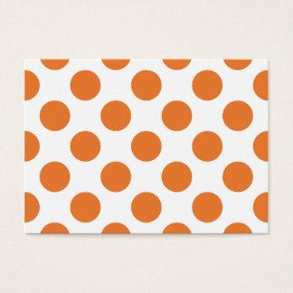 White and Orange Polka Dots Business Card