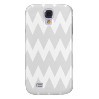 White and Pastel Gray Zigzags. Galaxy S4 Case