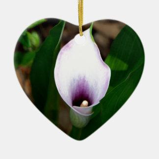 White and Purple Calla Lily Christmas Ornament