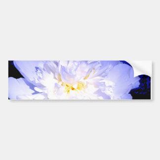 White and purple Peony Bumper Sticker