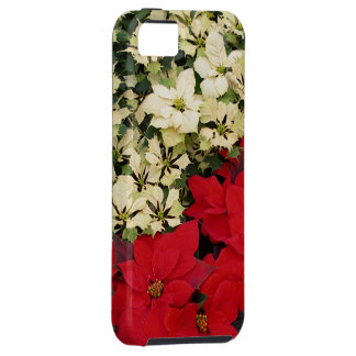 White and Red Poinsettias I Holiday Floral Case For The iPhone 5