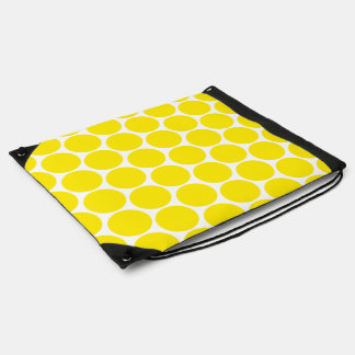 White And Yellow Polka Dots Pattern  Bag