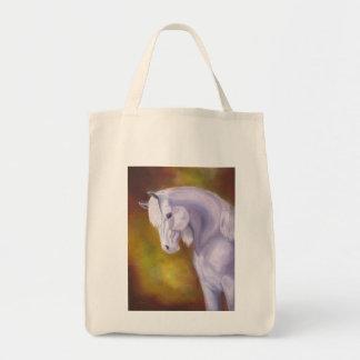 White Arabian Horse grocery bag