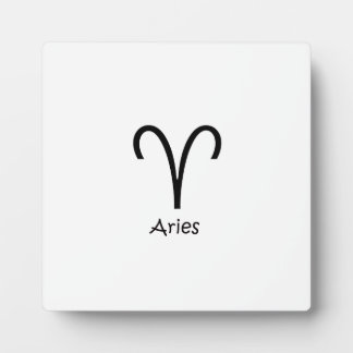 White Aries Zodiac March 21 - April 19 Astrology Plaque