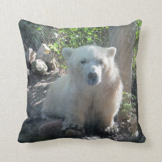 White Baby Polar Bear Pillow