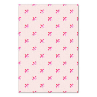 White Background with Pink Fleur de Lis Tissue Paper