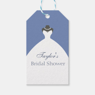 White Ballroom Gown Wedding Dress Gift Tags