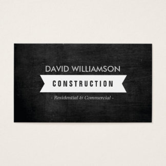 WHITE BANNER CONSTRUCTION, BUILDER, ARCHITECT LOGO