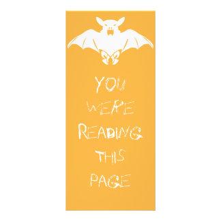 White Bat Bookmark Template Full Colour Rack Card