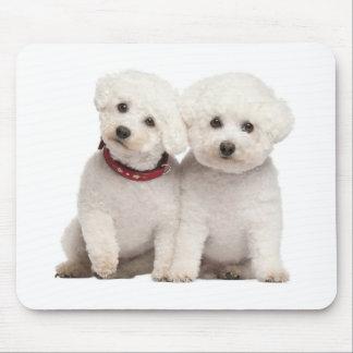 White Bichon Frise Puppy Dog Computer Mousepad