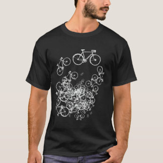 white bicycles cool-stamp T-Shirt