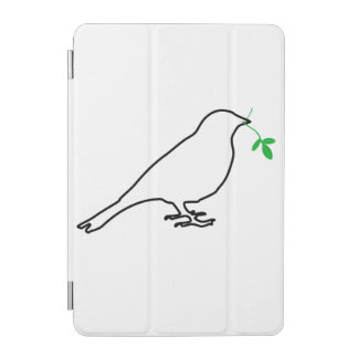 White Bird and Twig iPad Mini Cover