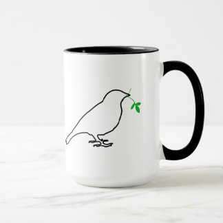 White Bird and Twig Mug