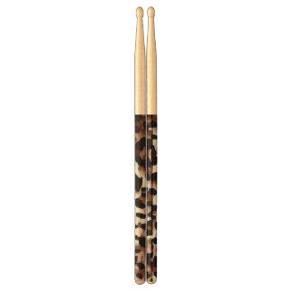 White Black Brown Cheetah Abstract Drumsticks