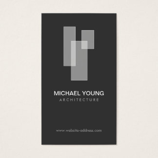 WHITE BLOCKS LOGO for Architects, Builders, Design Business Card