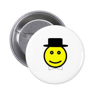 White Bowtie 6 Cm Round Badge